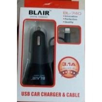 BLAIR  DIGITAL THINKING  USB CAR CHARGER & CABLE